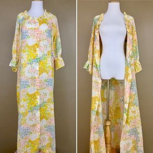 Vintage 60s Miss Elaine Psychedelic Cotton Robe
